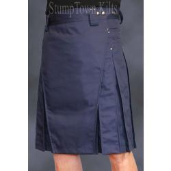 Men's Navy Blue Kilt w/Gunmetal Rivets