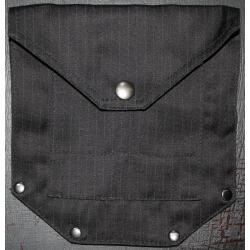 Large Pinstripe Pocket with Stylish Rivets