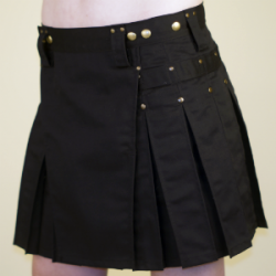Women's Black Kilt w/Antique Brass Rivets