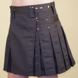 Women's Gray Kilt w/Gunmetal Rivets