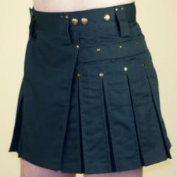 Women's Green Kilt w/Antique Brass Rivets