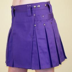 Women's Purple Kilt w/Gunmetal Rivets