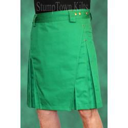 Men's Kelly Green Kilt w/Antique Brass Rivets