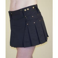 Black MiniKilt w/Antique Brass Rivets