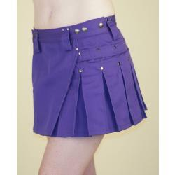 Purple MiniKilt w/Gunmetal Rivets