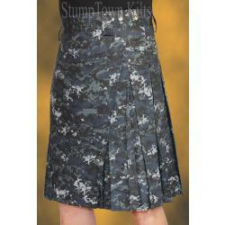 Men's 100% Cotton Ripstop Navy Digi Kilt
