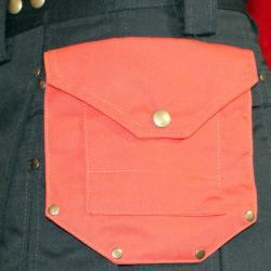 Large Pocket With Stylish Rivets